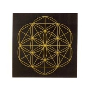 "8"" Black & Gold Laminated Grid Board"
