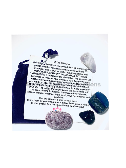 Crown Chakra Crystals  Set