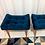 Thumbnail: kit com 2 Banquetas pés palito cor azul marinho