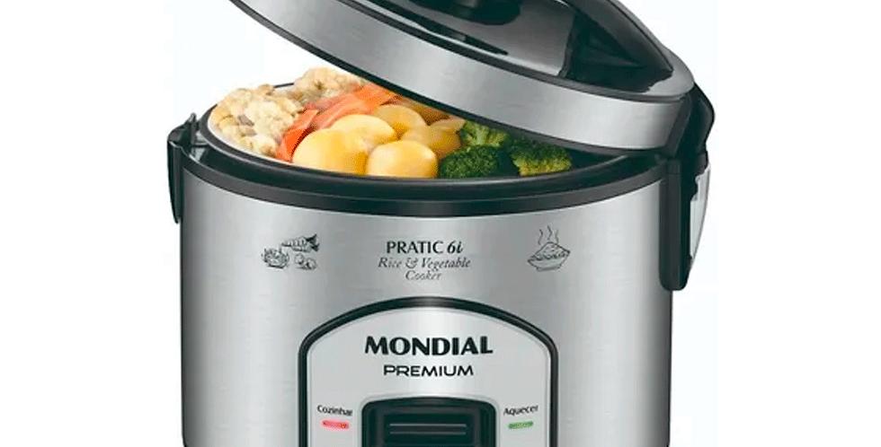 Panela Elétrica Mondial Pratic Rice 6 PE-02 1,2 L - Preta e Cinza