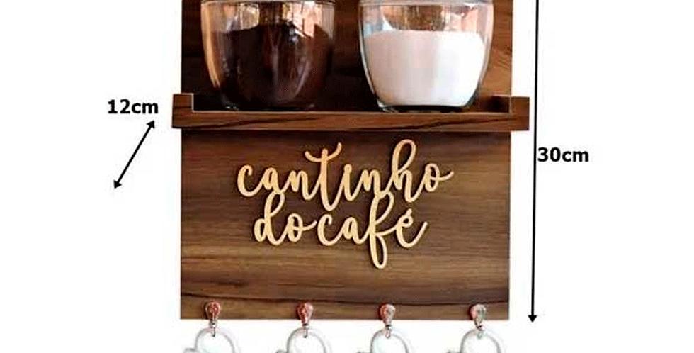Suporte de Xícaras Aparador Cantinho do Café 30x30cm