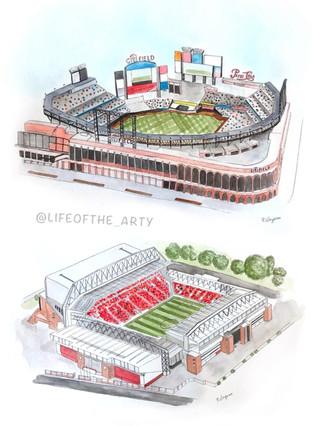Watercolor Stadiums