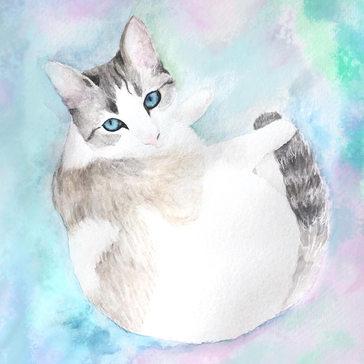 Watercolor pet portrait 2019