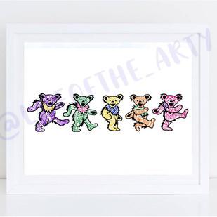 Grateful Dead Bears Print