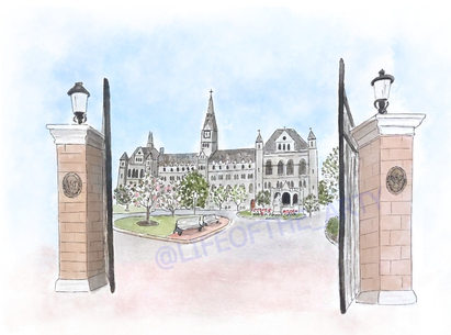 Healy Hall Front Gates
