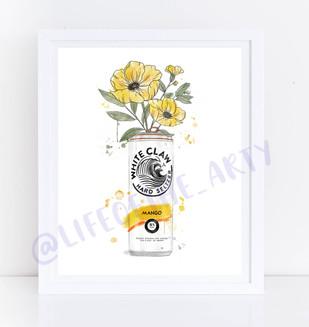 Mango White Claw Floral Print