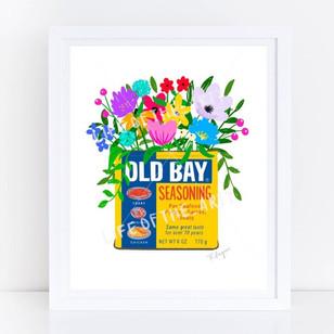 Old Bay Floral Print