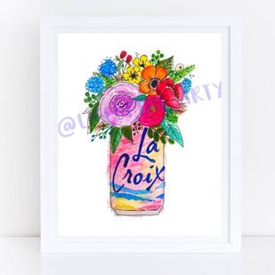 La Croix Floral Print