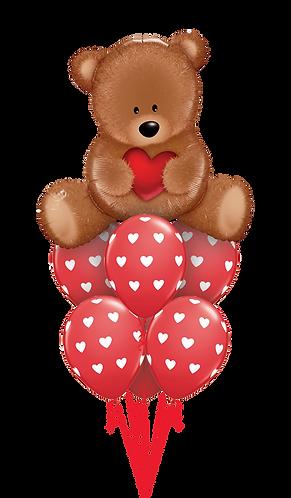 Ballongbukett - Love Bamse - Stor