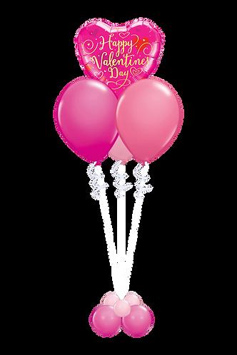 Ballongbukett - Valentines day - Liten - Rosa