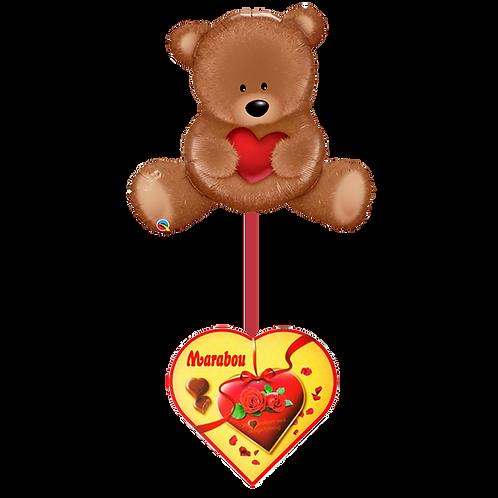 Ballongbukett -Love Bamse med Sjokolade