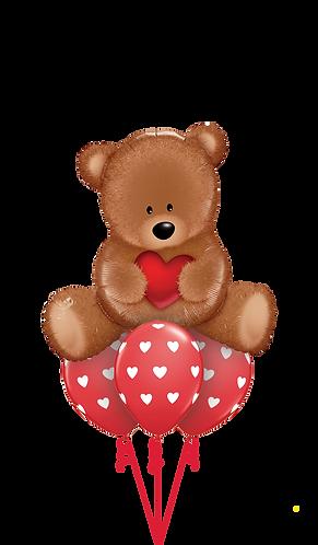 Ballongbukett - Love Bamse - Liten