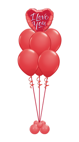 Ballongbukett - Valentines day - Stor - Rød