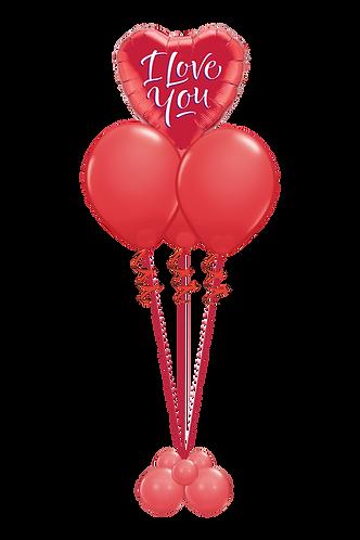 Ballongbukett - Valentines day - Liten - Rød