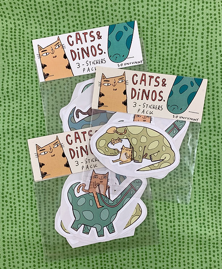 Cats & Dinos Sticker Pack By SoUnfunny