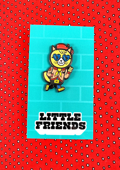 Tokyo Cats Shades Cat Enamel Pin By Little Friends Of Printmaking