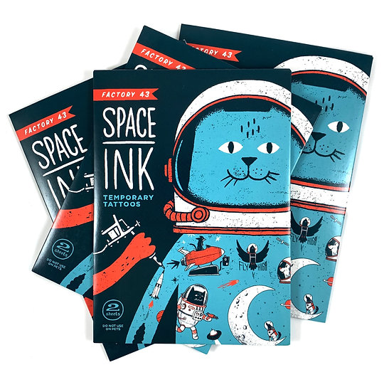 Space Ink Temporary Tattoos By Factory 43