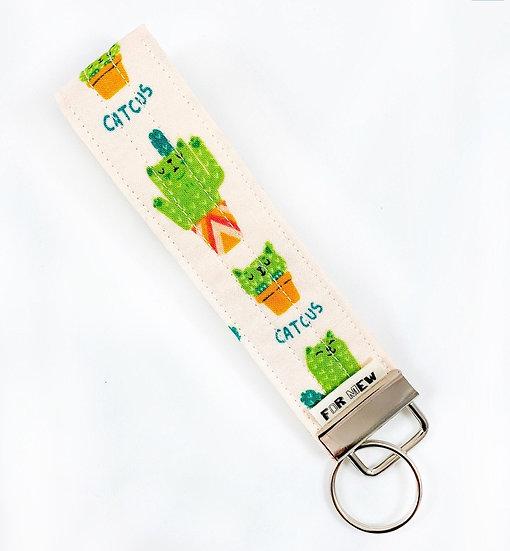 Catcus Cactus Cats Key Fob