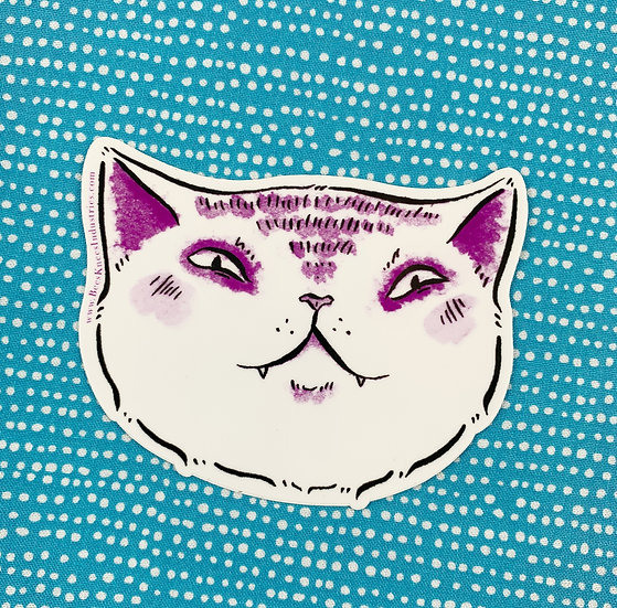Expressive Smug Cat Sticker By Bee's Knees