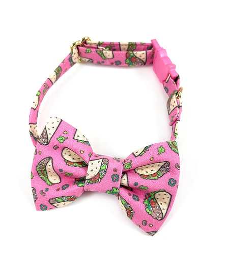 Tacos Bow Tie And Collar Set By Whiskers Crafts