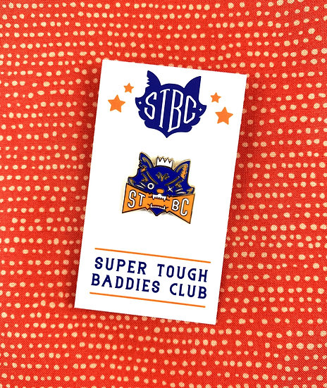 Bad Kitty Enamel Pin By STBC