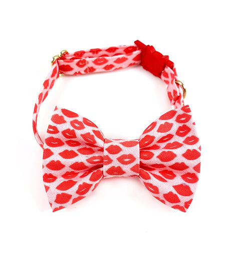 Kisses Valentines Bow Tie And Collar Set By Whiskers Crafts
