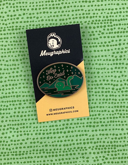 Loch Ness Cat Nessie Enamel Pin By Meugraphics
