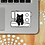 Thumbnail: Black Cat and Sewing Machine Decal Sticker By Jaycat Designs