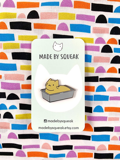 Dough Cat Loaf Cat Enamel Pin By Made By Squeak