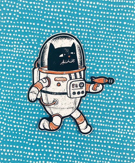 Space Cat Sticker By Factory 43