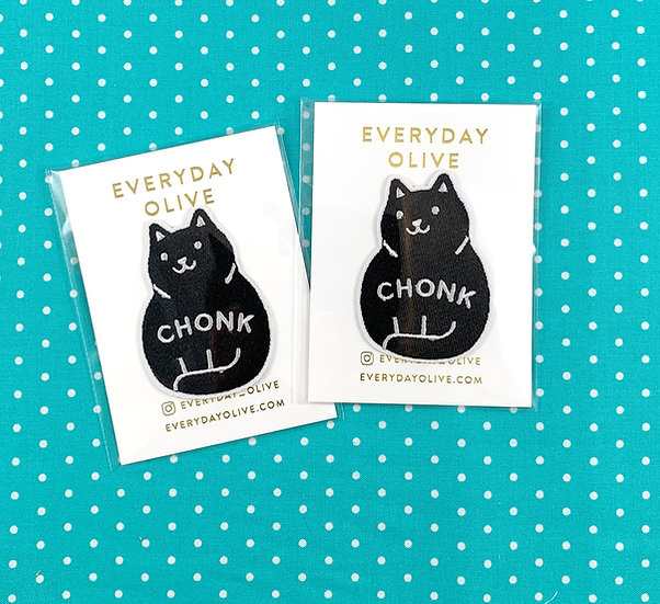Chonk Black Cat Patch By Everyday Olive