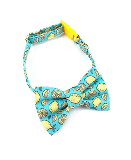 Lemon Bow Tie And Collar Set By Whiskers Crafts