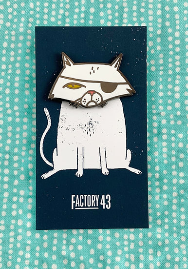 Evil Cat Enamel Pin By Factory 43