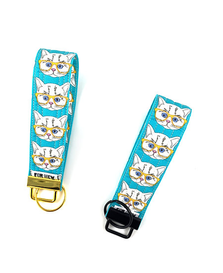 Cats With Glasses Key Fob