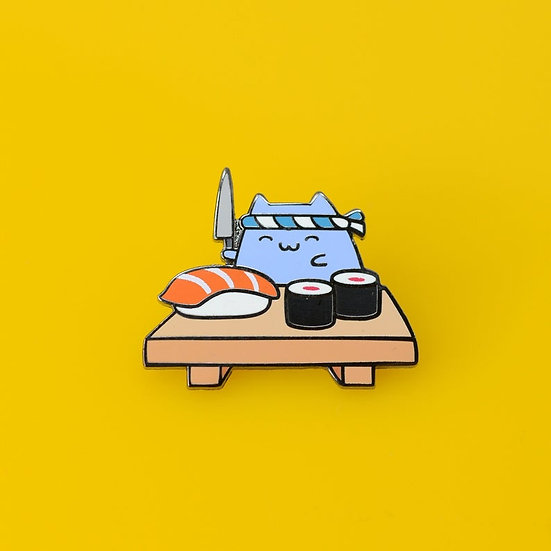 Sushi Cat Enamel Pin By Robot Dance Battle