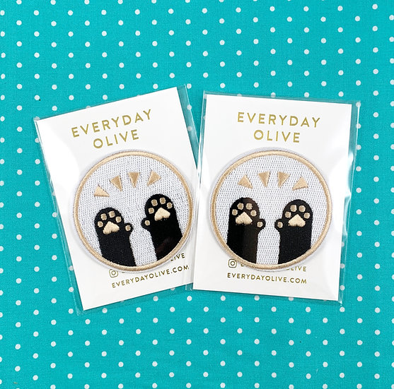 Pawsome Cat Paws Patch By Everyday Olive