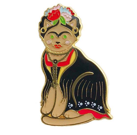 Frida Cat Enamel Pin By Danielle V Designs