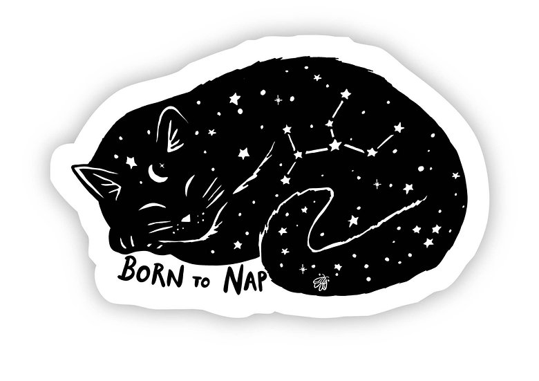 Born to Nap Sticker By Eska and the Alpenglow And Big Moods