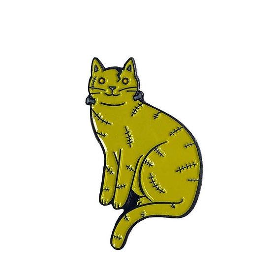 Frankenstein Cat Enamel Pin By Danielle V Designs