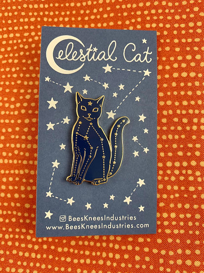 Celestial Cat Enamel Pin By Bee's Knees