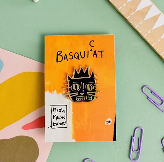 Basquicat Enamel Pin By Niaski