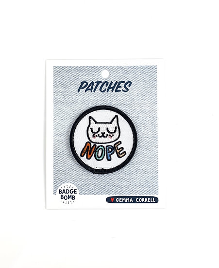 Nope Cat Patch By Gemma Correll Badge Bomb