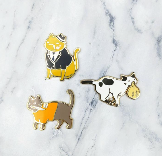 Criminal Cats Enamel Pins By Made By Squeak