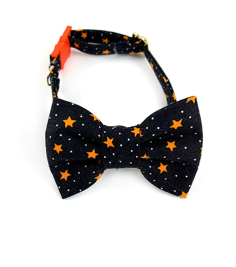 Halloween Stars Bow Tie And Collar Set By Whiskers Crafts