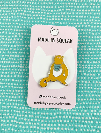 Whining Hungry Cat Enamel Pin By Made By Squeak