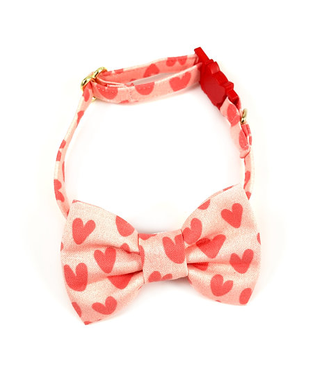 Hearts Valentines Bow Tie And Collar Set By Whiskers Crafts