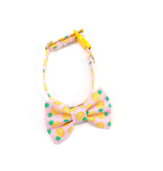 Pineapple Bow Tie And Collar Set By Whiskers Crafts