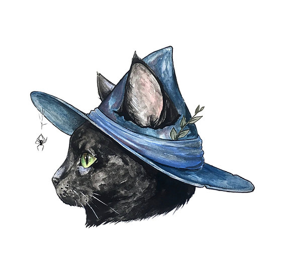 Witch Cat Sticker By Tyler Shae And Big Moods
