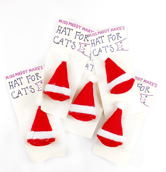 Santa Clause Hat For Cats By MissMaddyMakes