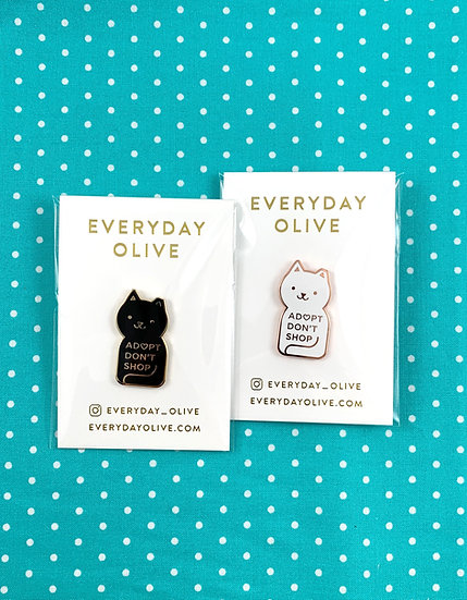 Adopt Don't Shop Enamel Pin By Everyday Olive